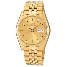 seiko men 039 s sgf206 gold tone stainless steel dress watch image is loading seiko men 039 s sgf206 gold tone stainless