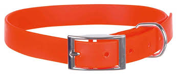 Собакам :: <b>Ошейник из ПВХ</b> оранжевый M #19943