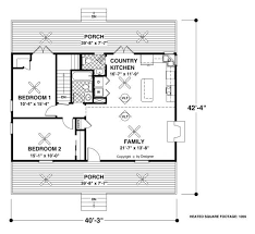 The Forest Lake Cottage   Bedrooms and Bath   The House    Main Level Floor Plan