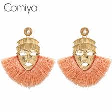Comiya Fashion Dangle Earrings For Women Face Pattern <b>Zinc</b> ...