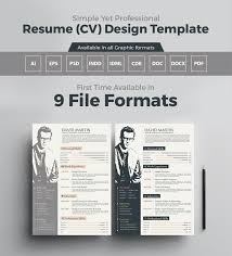 simple yet professional resume cv design template brochures simple yet professional resume cv design template 3