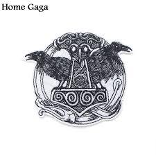 <b>Homegaga viking</b> applique patches iron on para shirt bag clothes ...