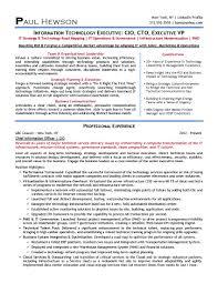 2 resume secrets for the aspiring cio or cto it tech exec 2014 cio resume sample page 1
