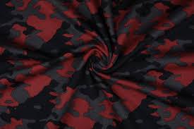 Jogging <b>Camouflage Dark red</b> - Boelens Modestoffen