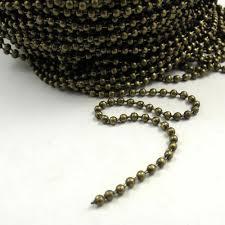 <b>5m</b>/<b>lot</b> Antique Bronze Iron <b>Metal</b> Beads <b>Chains</b> Dangle <b>Necklace</b> ...