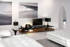 living room with bed: contemporary modern interior design for living room with interesting white wall paint color ideas and charming