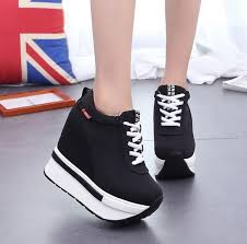 Women Height Increasing Elevator Shoes <b>12cm Ultra High Heels</b> ...