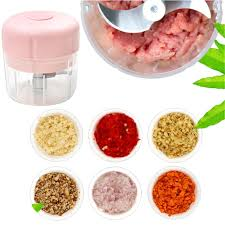 <b>Mini Electric</b> Food Chopper Portanle USB Meat Grinder <b>Garlic Cutter</b> ...