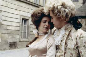 amadeus czech american filmmaker milos forman s musical tom hulce as mozart and elizabeth berridge as mozart s wife constanze in 1984 musical amadeus