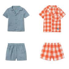 <b>Kids</b> Pajamas Sets <b>Bobo Choses</b> 2019 Summer Plaid Baby Girls ...