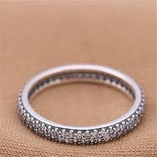 Charm Ring Wedding Memory <b>Manual</b> Embed CZ Authentic <b>925</b> ...