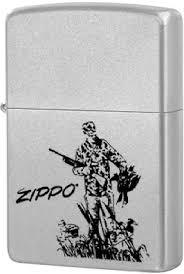 <b>205 Duck Hunting Зажигалка Zippo</b>, Satin Chrome