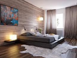 modern with lighting in a bedroom design with awesome wooden wall and wooden floors also white bed lighting fabulous