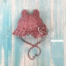 "Little star <b>Панама</b> для девочки ""<b>Мишка</b>"" / 40 / красный+белый №2 ..."