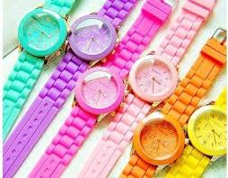 <b>Fluorescent colors</b>, <b>Neon colors</b>, <b>Candy</b> watch