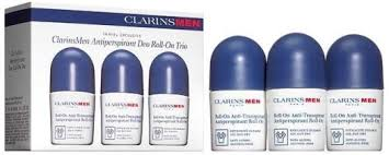 <b>Clarins Men</b> Antiperspirant Deo Roll-on Trio 3х50ml в дьюти фри в ...
