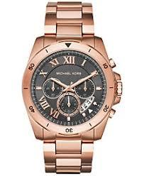 michael kors mens watches macy s michael kors men s chronograph brecken rose gold tone stainless steel bracelet watch 44mm mk8563