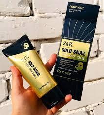 K-Puff Beauty - [<b>FARM STAY</b>] <b>24K Gold Snail</b> Peel Off Pack ...