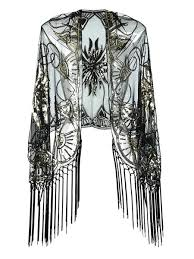 Vintage <b>Sequin Handmade</b> Fringed Cape – Retro Stage - Chic ...