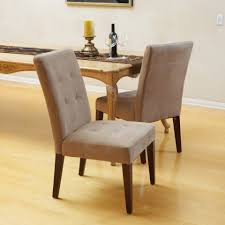Tufted Leather Dining Room Chairs Fabric Covered Dining Chair Chic Belle Chair Design Dark Espresso