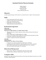 resume builder skills list  seangarrette coassistant director resume example for objective with skills and professional experience    resume builder skills