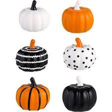 Mini <b>Patterned</b> Pumpkin Figurines 6ct | Kid-Friendly <b>Halloween</b> ...