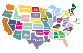 Image result for states of america map