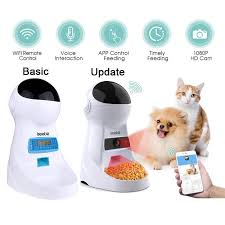 Iseebiz <b>3L Automatic Pet Feeder</b> With Voice Record Pets Food Bowl ...