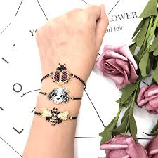 <b>FAIRYWOO</b> Gift For Woman Charm Bracelets Cute Animals Miyuki ...
