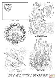 Small Picture Nevada State Symbols coloring page Free Printable Coloring Pages