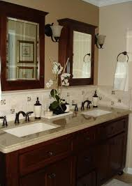 bathroom vanity uk company countertop combination: bathroom western themed bathroom decor then double sinks and faucets also granite vanity tops and shelves ideas with mirror doors with wooden vanity