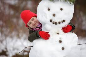 Image result for kids building a snowman