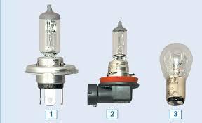 <b>Лампы</b>, применяемые в автомобиле Lada Largus