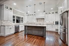 beautiful white kitchen cabinets:  beautiful white kitchen design ideas grey metal kitchen pendant lighting stainless steel double door refrigerator freezer