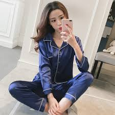 <b>ZOOLIM</b> Big Size M 5XL Satin Sleepwear <b>Women Pajamas Sets</b> 2 ...