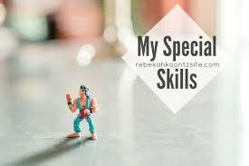 my special skills the rebekah koontz site my special skills rebekah koontz