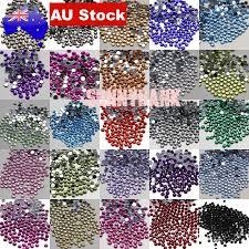 100-500 <b>Crystal</b> Rhinestones Non-HotFix Assorted Flat Back Nail Art ...
