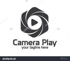 flat camera photography logo design simple stock vector  flat camera photography logo design simple clean photo logo vector template camera play concept