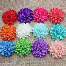 Ribbon 10pcs <b>MIX satin ribbon</b> big Peony Flower Appliques/craft ...
