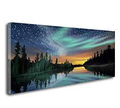 S73450 Wall Art Aurora Canvas Prints Paintings Wall ... - Amazon.com
