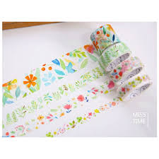 Aliexpress.com : Buy Spring Flowers Series Tape Decorative ...