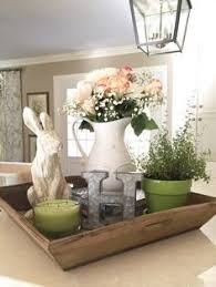 dishy kitchen counter decorating ideas: spring amp easter decor for kitchen island using reclaimed wooden tray bhdhome magnoliamarket