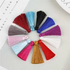 10-<b>20pcs</b> 35mm Polyester Silk Tassel Earrings Charms <b>Chinese</b> ...