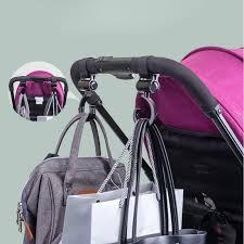 <b>2pcs</b>/<b>Lot Baby</b> Hanger Bag <b>Stroller Hooks</b> Pram Rotate 360 Cart ...