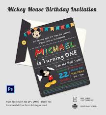 mickey mouse invitation templates sample example editable micky mouse birthday invitation template