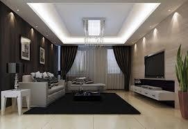 black white grey living room interior dark gray walls black curtains white furniture