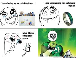 Mood Ring Childhood Toys Green Lantern Memes. Best Collection of ... via Relatably.com