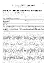 (PDF) <b>GRAIN</b> REFINING MECHANISMS IN <b>MAGNESIUM</b> ALLOYS ...