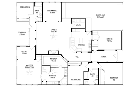 Unique Ranch Homes Plans Bedroom Ranch Style House Plans    floor plans for a bedroom ranch house