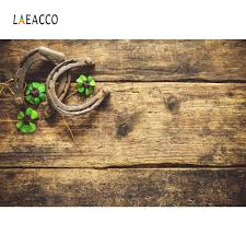 <b>Laeacco</b> Clovers <b>Old Wooden Boards</b> St. Patrick's Day Photography ...